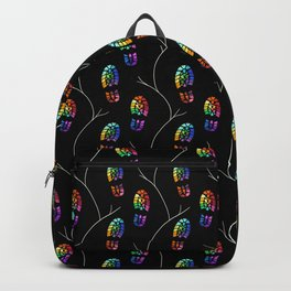 Rainbow Tread with Branches Pattern Backpack