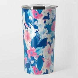 Bloom Blue Travel Mug