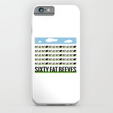 60 Fat Beeves - Cow Cartoon by WIPjenni Slim Case iPhone 6s