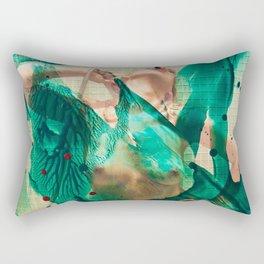 Smaragd shower - nude in bathroom Rectangular Pillow
