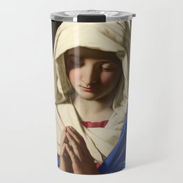 The Virgin in Prayer by Giovanni Sassoferrato (c. 1645) Travel Mug