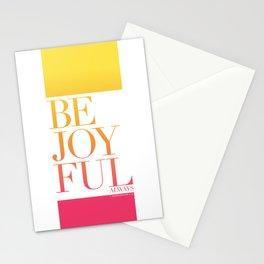 Be Joyful Always Stationery Cards