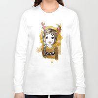 hippie Long Sleeve T-shirts featuring Hippie by Janreh