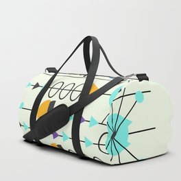 Kitty mid-century decor Duffle Bag
