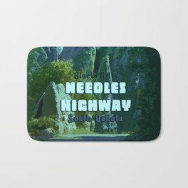 Enchanted Needles Highway Retro Travel Bath Mat