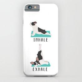 French Bulldog Yoga Pose iPhone Case