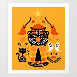 Witches Halloween Essentials Art Print