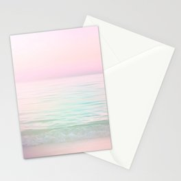 Dreamy Pastel Seascape #buyart #pastelvibes #Society6 Stationery Cards