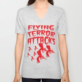 Mosquito Insect Comic Flying Terror Funny Blood Sucker Gift idea Unisex V-Neck