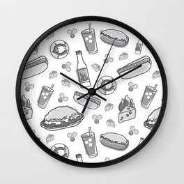 Skyline Chili Pattern Gray Wall Clock