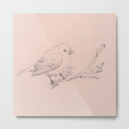 Hand drawning of a bird Metal Print