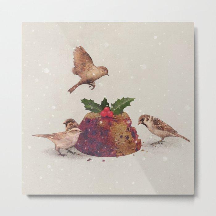 Christmas Pudding Raid  Metal Print
