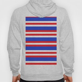 Blue,red and white lion stripes. Hoody