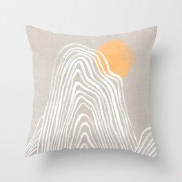 Echo mountain Throw Pillow