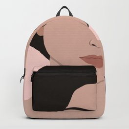 claire - portrait in pink Backpack