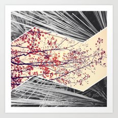 Maple and Pine Collage Art Print