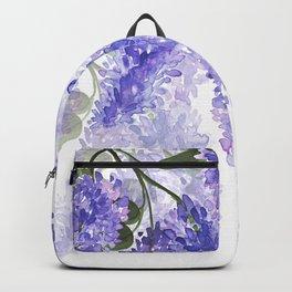 Purple Wisteria Flowers Backpack