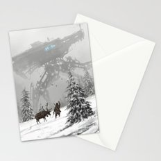 1920 - winter walker Stationery Cards