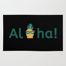 Aloha Hawaii Pineapple Summer Vibes Beach Paradise Chill Time Rug