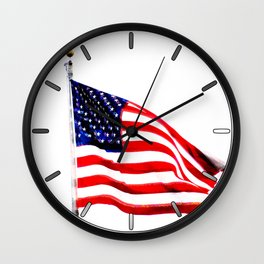 US Flag (Slightly Glitched) Wall Clock