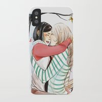 helen iPhone & iPod Cases featuring Aline and Helen by The Radioactive Peach