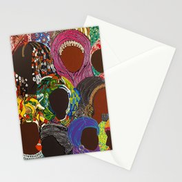 African Muslima Queens by Kelly Izdihar Crosby Stationery Cards