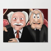 blair waldorf Canvas Prints featuring Statler & Waldorf by Dano77