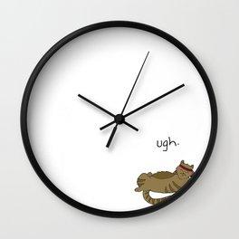 Crunch Cat by Caleb Croy Wall Clock