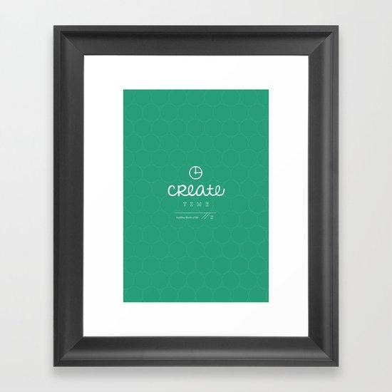 Create Time Framed Art Print