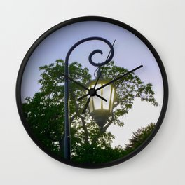 Sunset Lamppost Wall Clock