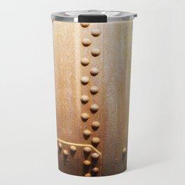 Rivets on steel plates Travel Mug