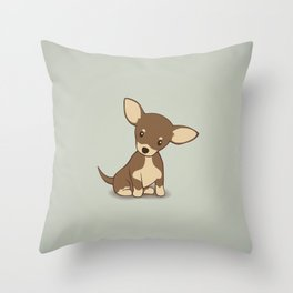 Chihuahua Puppy Illustration Throw Pillow