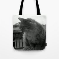 garfield Tote Bags featuring Garfield by Jessica Nicole Pacheco