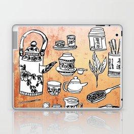 Chinese Tea Doodles 2 Laptop & iPad Skin