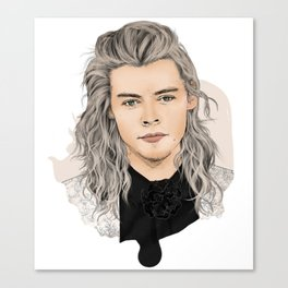 Harry silver Canvas Print