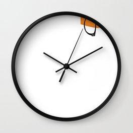Alex Vause Glasses with Fake Print Pocket Wall Clock