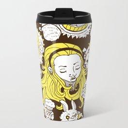 Alice In Wonderland Metal Travel Mug