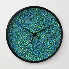Blue Bobble Pattern Wall Clock
