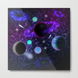 My Lover Is From Outer Space Metal Print