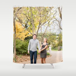 Fall walk in the park Shower Curtain