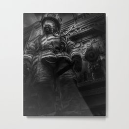 FDNY Firefighter fireman fire truck Illustration Painting art design fire house Oil Painting Acrylic Metal Print