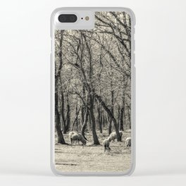The flock Clear iPhone Case