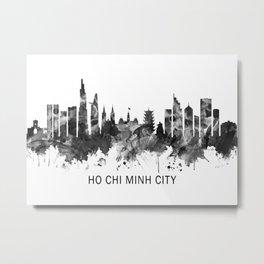 Ho Chi Minh City Vietnam Skyline BW Metal Print
