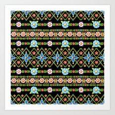 Gypsy Boho Chic Stripe Art Print