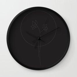 A Flower so Faint Wall Clock