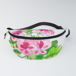 Pink Geraniums Fanny Pack