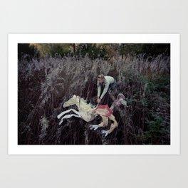 Beige Horse Art Print