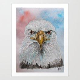 American Eagle Watercolor Painting Art Print