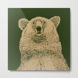 Kodiak Bear Metal Print