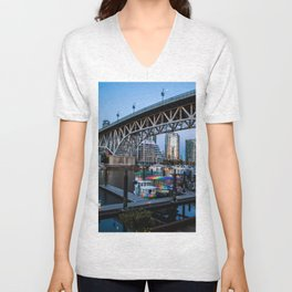 Granville Island Bridge Unisex V-Neck
